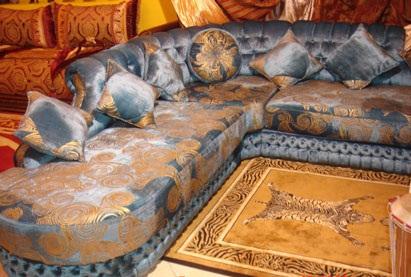 Le salon marocain confortable