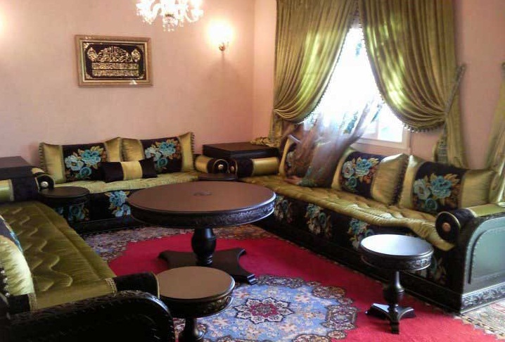 mars 2015 d co salon marocain. Black Bedroom Furniture Sets. Home Design Ideas