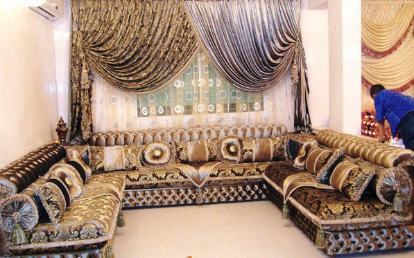 salon marocain pas cher casablanca d co salon marocain. Black Bedroom Furniture Sets. Home Design Ideas