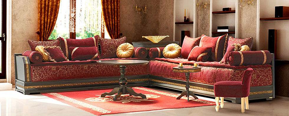 couture de salon marocain d co salon marocain. Black Bedroom Furniture Sets. Home Design Ideas