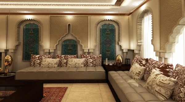 d coration salon marocain traditionnel. Black Bedroom Furniture Sets. Home Design Ideas