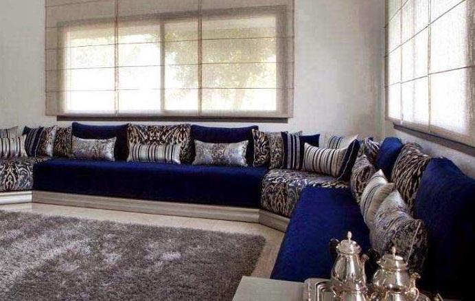 fauteuil salon moderne bleu urbantrottcom