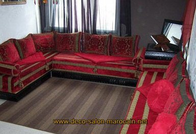 canap s de salon marocain moderne d co salon marocain. Black Bedroom Furniture Sets. Home Design Ideas