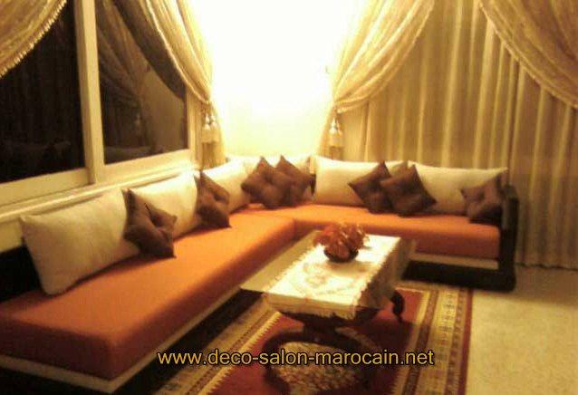 Canap s de salon marocain moderne d co salon marocain for Les canapes marocains