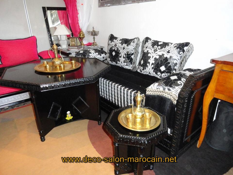 Modèles de salon marocain Orly - Déco salon marocain