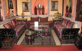 Salon marocain décoration orientale