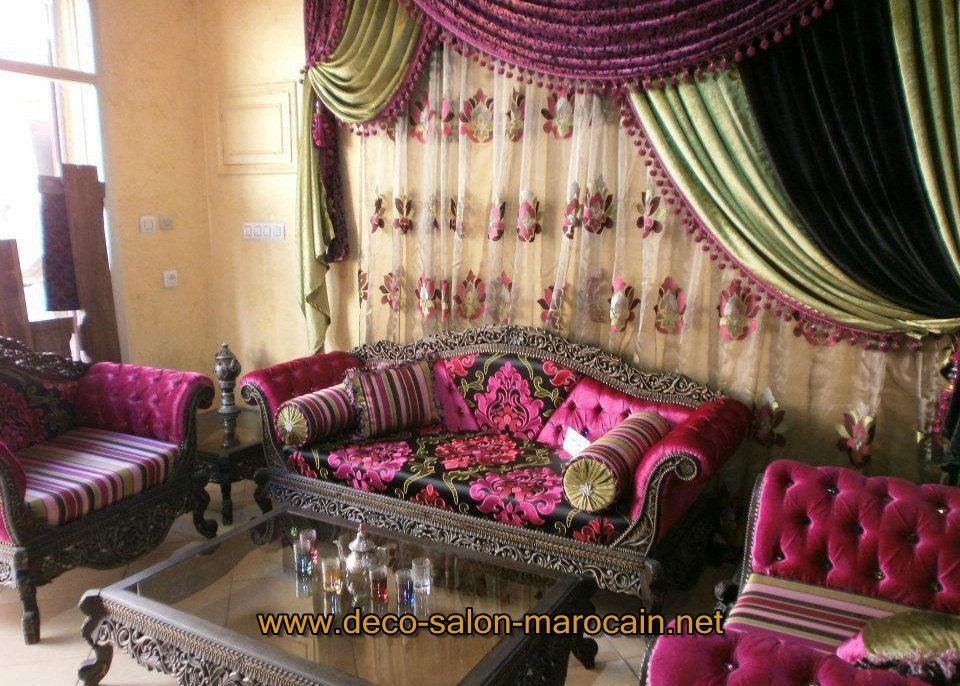 Khdadi de salon marocain vendre d co salon marocain for Tissu de salon marocain