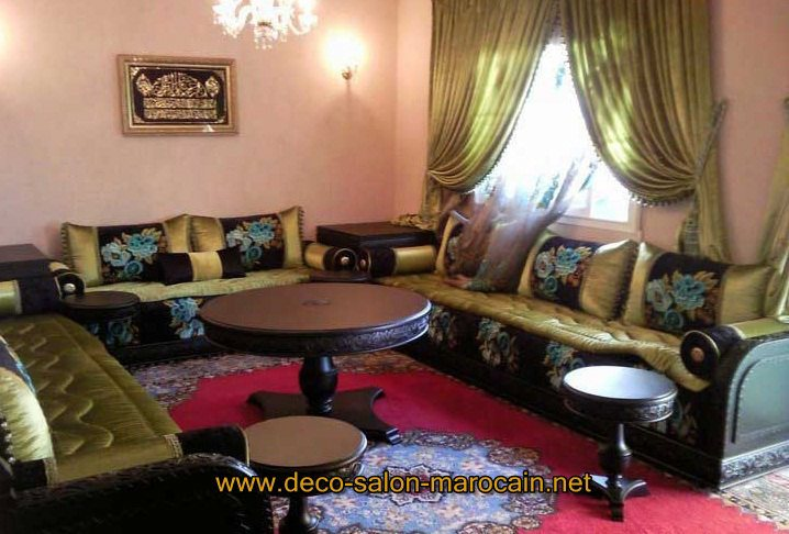 Vente salon marocain occasion d co salon marocain - Appartement au design traditionnel moderne colore ...