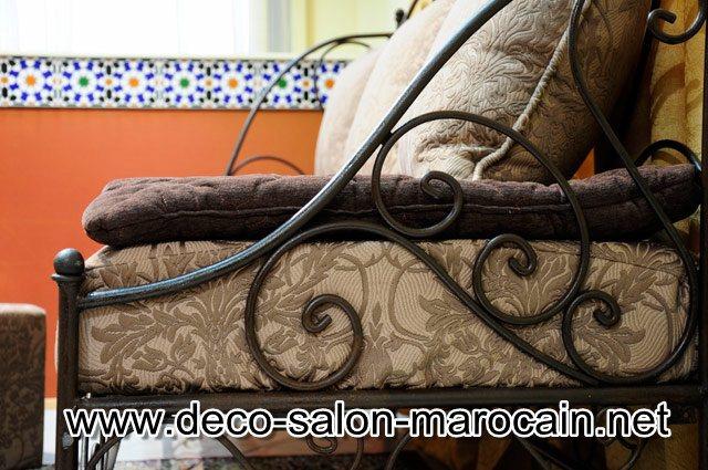 Mod les de salons marocains en fer forg d co salon marocain for Salon fer forge moderne