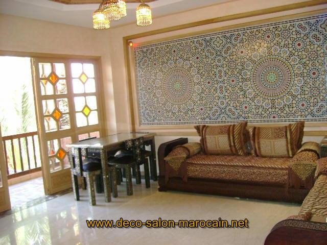 Mod les de salon marocain oriental d co salon marocain for Modele de decoration salon