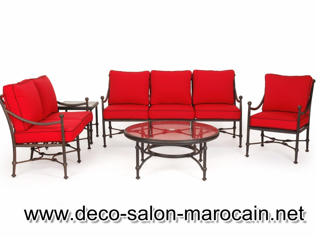 Mod les de salons marocains en fer forg d co salon marocain for Salon fer forge catalogue
