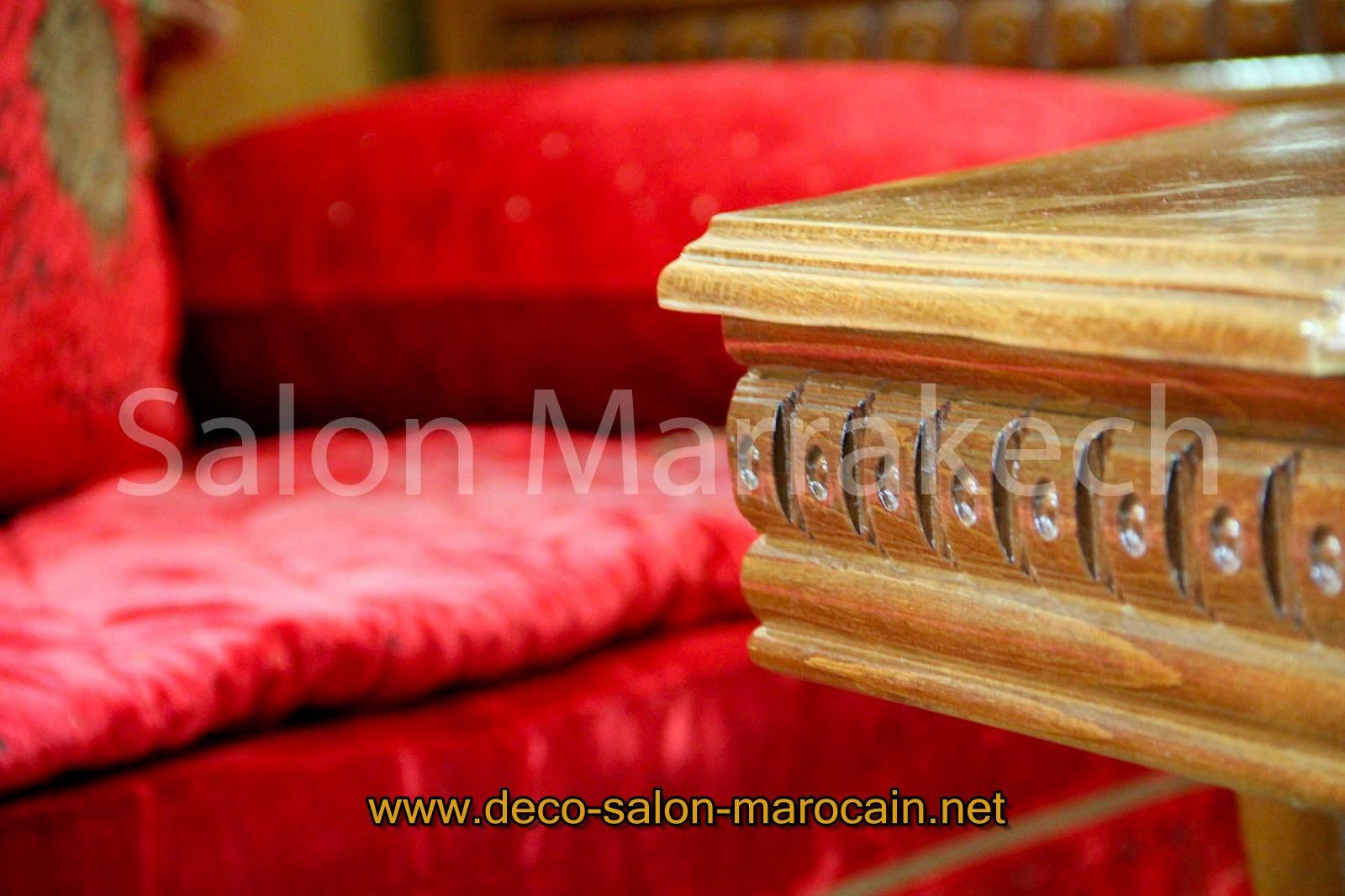 salon marocain couleur rouge - Canape Marocain Rouge