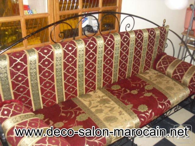 mod les de salons marocains en fer forg d co salon marocain. Black Bedroom Furniture Sets. Home Design Ideas