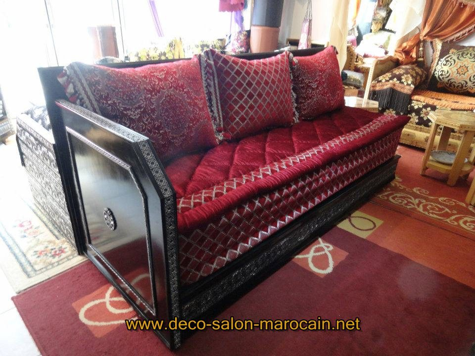 salon marocain bois rouge. Black Bedroom Furniture Sets. Home Design Ideas