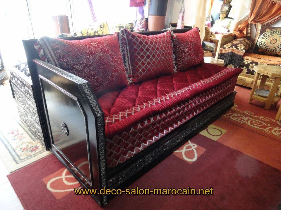 d coration salon marocain rouge pas cher d co salon marocain. Black Bedroom Furniture Sets. Home Design Ideas