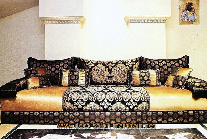 tissus de salon benchrif marocain d co salon marocain. Black Bedroom Furniture Sets. Home Design Ideas