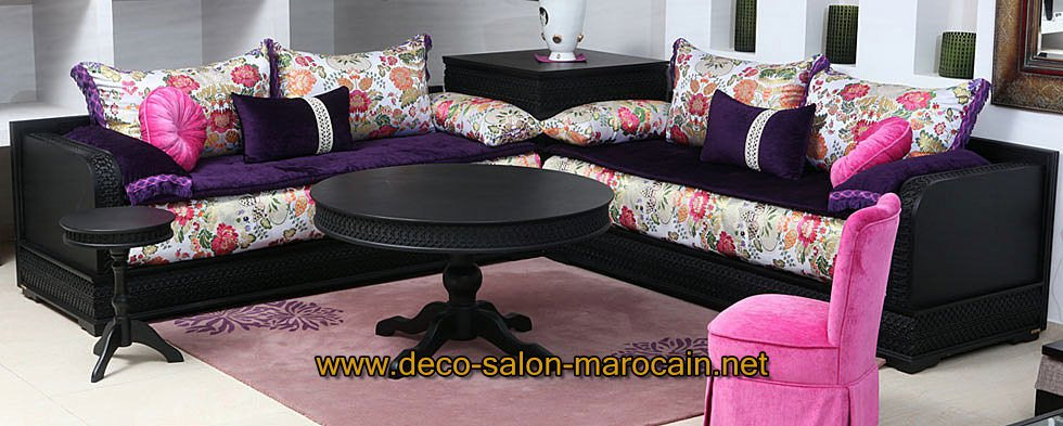 Model salon moderne for Les canapes marocains
