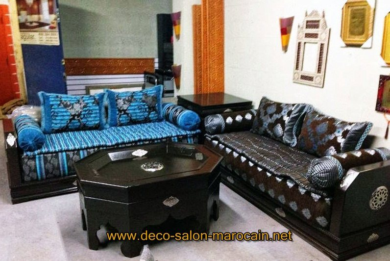 Banquettes salon marocain d co salon marocain for Model salon moderne 2016