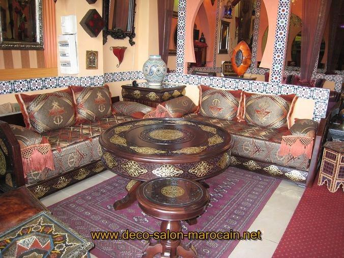 Mod les de salon marocain oriental d co salon marocain for Deco salon oriental