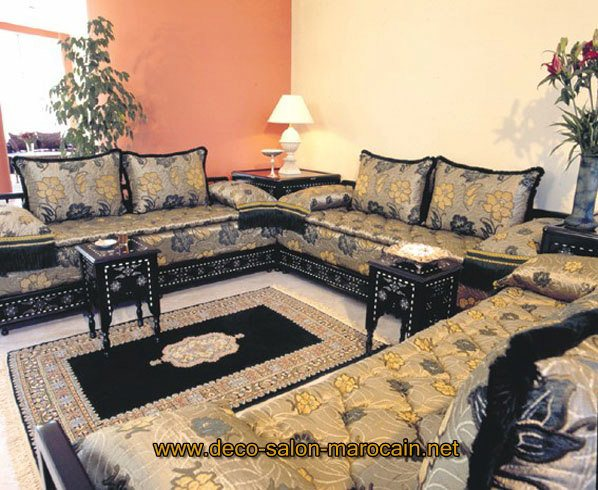 Salon marocain en cuivre style traditionnel d co salon for Style de salon marocain