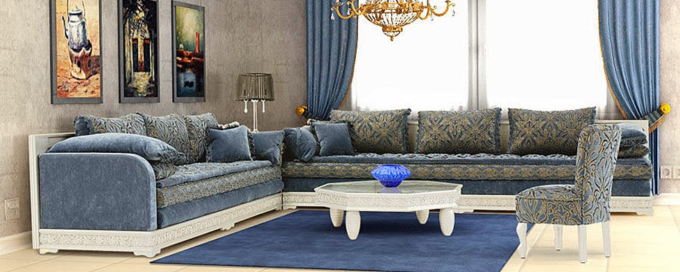 Salon marocain beldi style traditionnel royal d co salon - Salon beldi marocain decoration ...