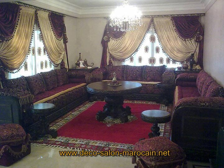 decoration salon marocain 2016. Black Bedroom Furniture Sets. Home Design Ideas