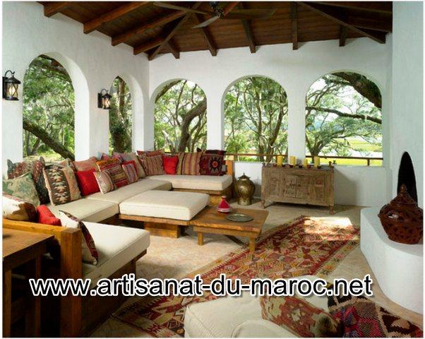 Décoration et meuble pour salon marocain