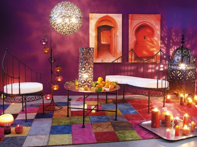 Le design de lanterne marocaine pour une d coration orientale d co salon ma - Decoration orientale salon ...