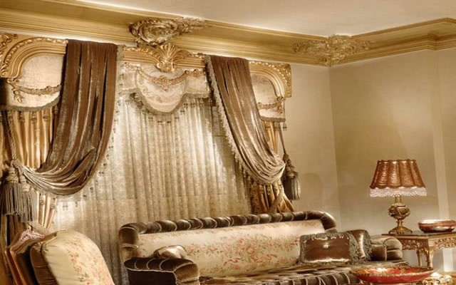 rideaux pour salon classique. Black Bedroom Furniture Sets. Home Design Ideas