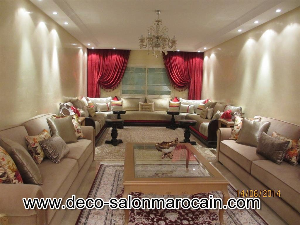 D co salon marocain 2016 for Decoration salon marocain moderne 2016