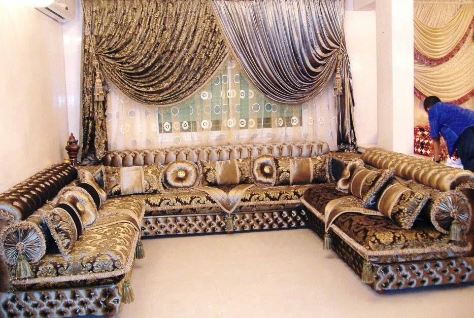 rideaux salon marocain d co salon marocain. Black Bedroom Furniture Sets. Home Design Ideas