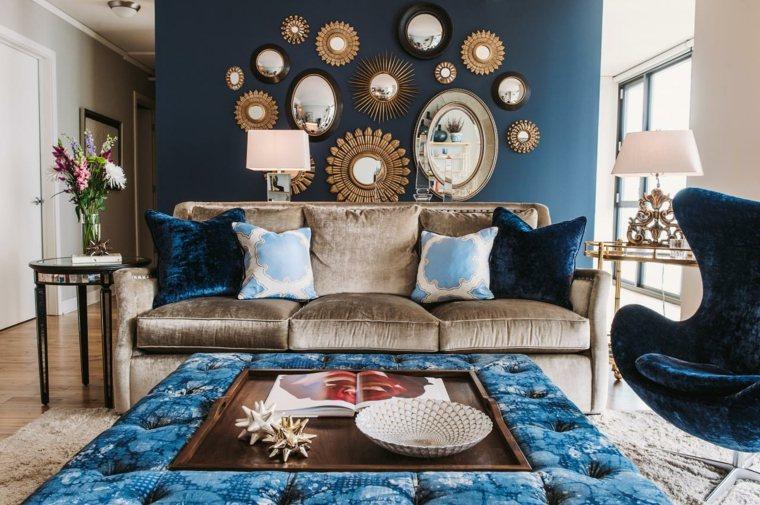couleur bleu tendance déco de salon marocain 2016