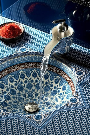 lavabo de salle bain maroc très traditionnel