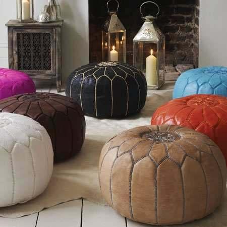 pouf marocain décoration orientale