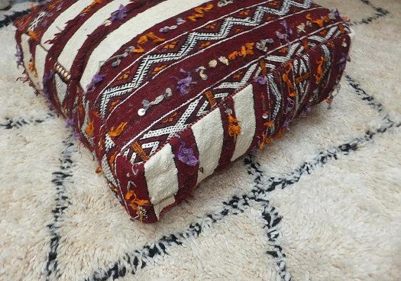 Poufs marocain design berbère