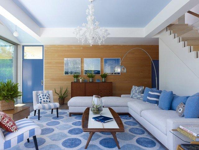 salon blanche bleu