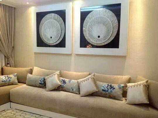 magnifique  salon marocain en tissu d'orée