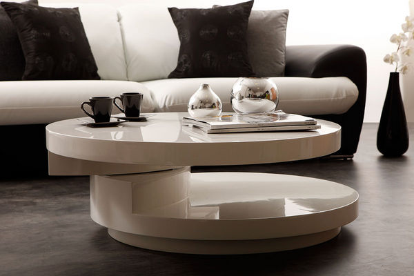 Table basse ronde salon but for Accessoire deco salon