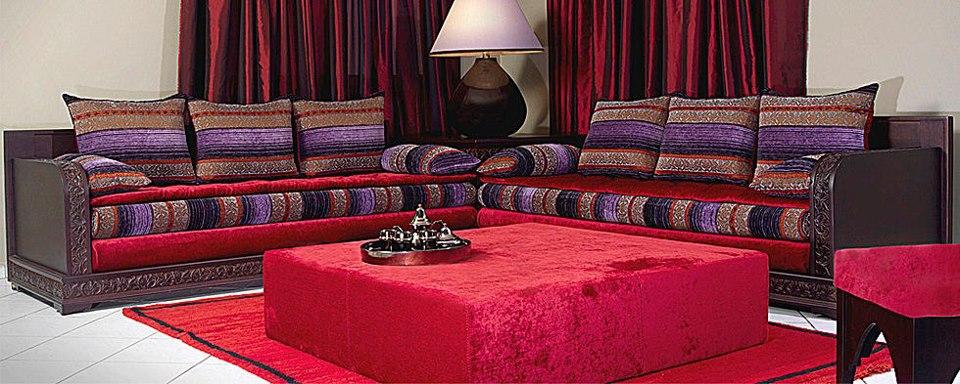 id es et astuces pour choisir le mobilier de salon marocain d co salon marocain. Black Bedroom Furniture Sets. Home Design Ideas