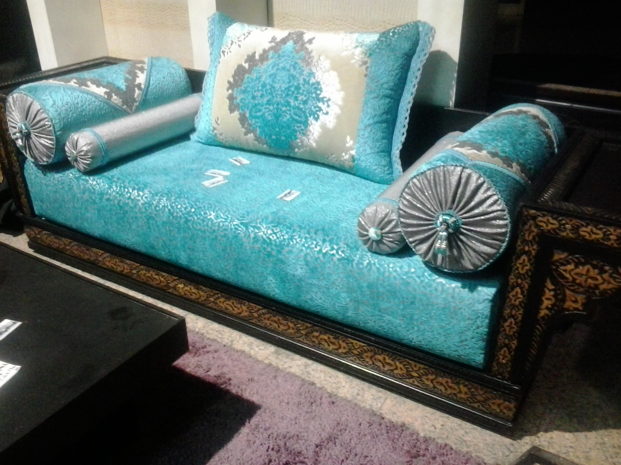 Salon Marocain Moderne Orange Marron