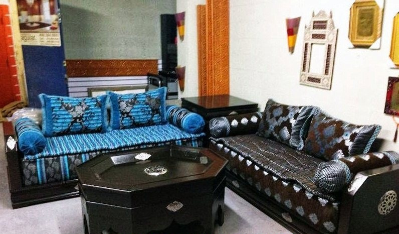 vente de salon marocain en ligne d co salon marocain. Black Bedroom Furniture Sets. Home Design Ideas