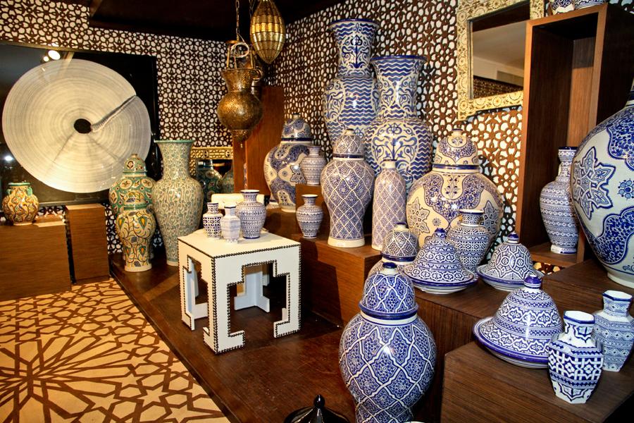 Poterie marocaine pour la d coration de salons d co for Salon artisanat
