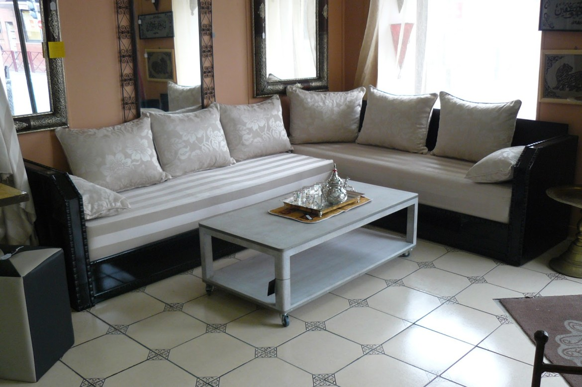 Salon marocain traditionnel design moderne - Salon moderne ...
