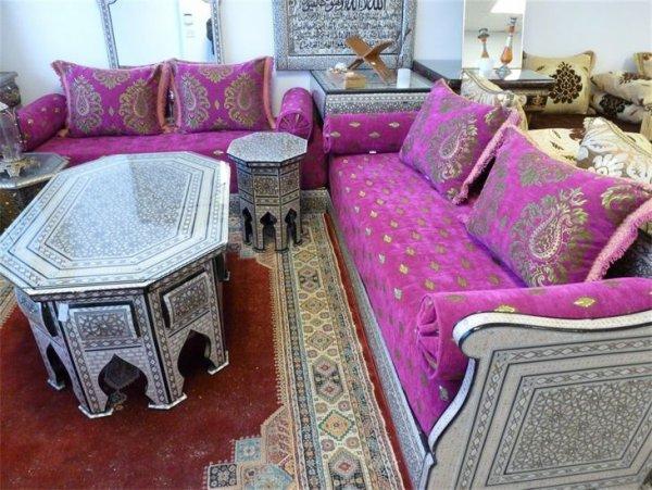 salon marocain en bois modenre a lyon