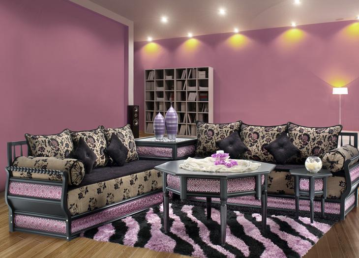 salon marocain en violet