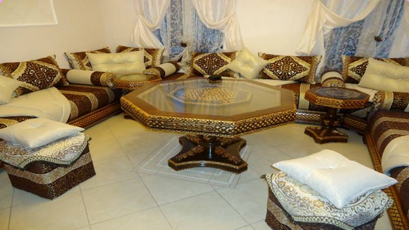 salon marocain beldi style traditionnel vendre d co. Black Bedroom Furniture Sets. Home Design Ideas