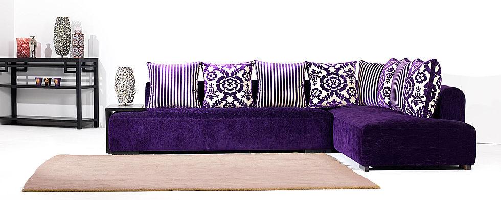 salon marocain Richbond Modèles  2017 en violet