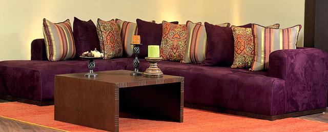 canapé salon marocain violet