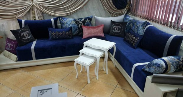 decoration salon marocain 2018. Black Bedroom Furniture Sets. Home Design Ideas