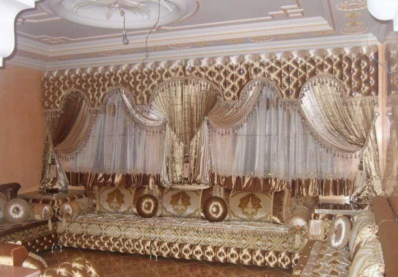 rideaux marocains pour salon marocain. Black Bedroom Furniture Sets. Home Design Ideas